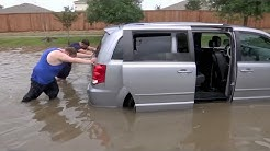 Houston area swamped by up to 10 inches of rain.
