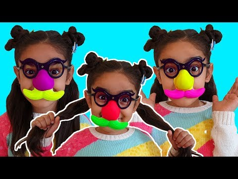 Esma's Colorful Toy Nose Glasses
