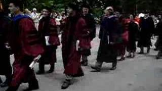 University of Chicago Graduation Bagpipe Procession