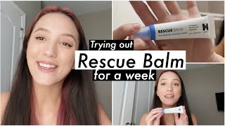 Trying Rescue Balm for a Week