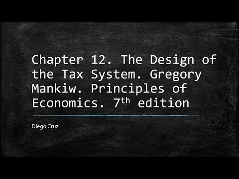 Chapter 12. The Design of the Tax System. Gregory Mankiw. Principles of Economics. 7th edition