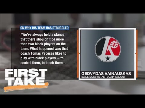 Lithuanian Basketball Team President Comments On Black Players | First Take | June 16, 2017