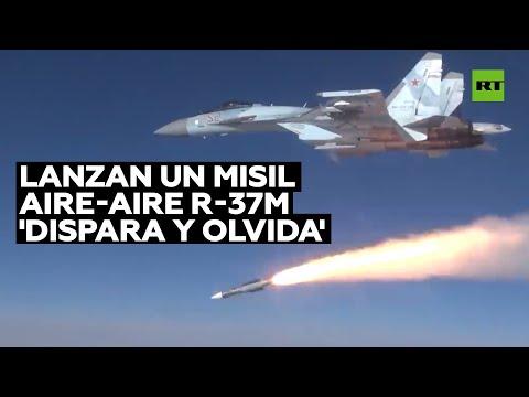 Rusia muestra por primera vez el lanzamiento de un misil aire-aire R-37М 'dispara y olvida'