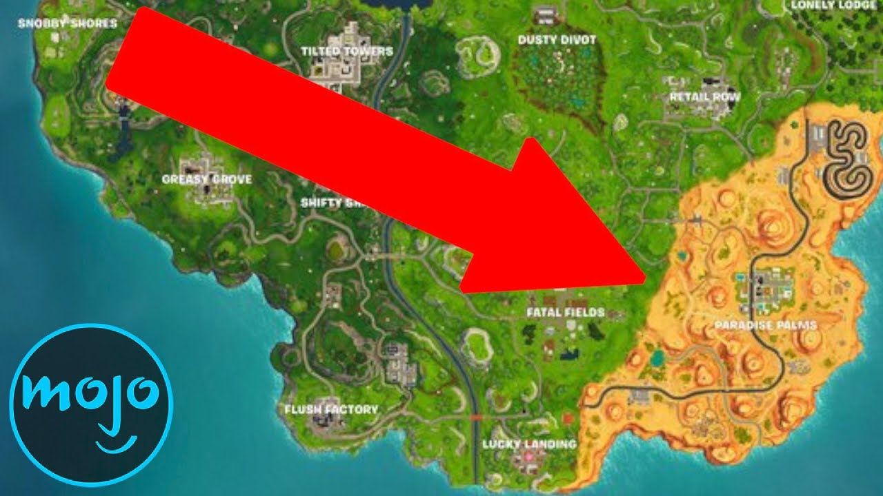 Top 10 Biggest Fortnite Map Changes Youtube