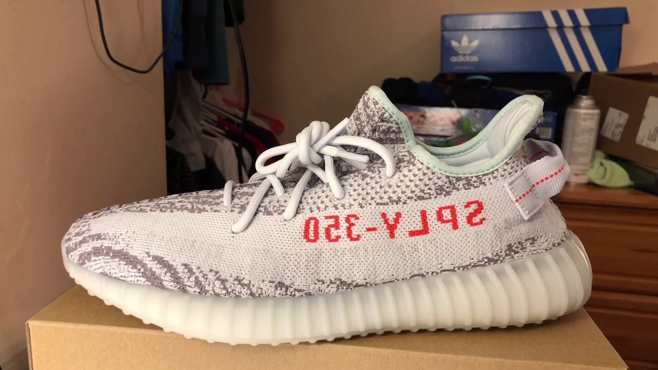 e0eb69946de55 Yeezy 350 Boost v2 blue tint review + giveaway + on feet!!! - YouTube