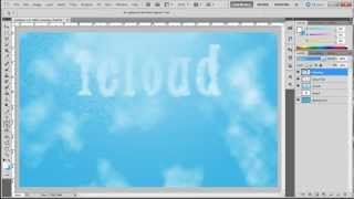 How to create a cloud text effect in Photoshop