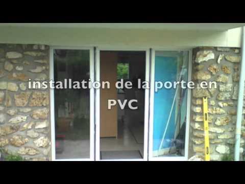 vitrier paris installation d 39 une porte en pvc avec doubles vitrages youtube. Black Bedroom Furniture Sets. Home Design Ideas