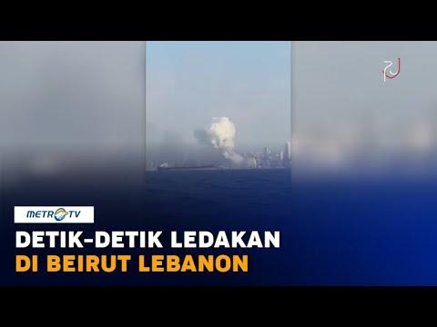 Detik-detik Ledakan Dahsyat di Beirut Lebanon