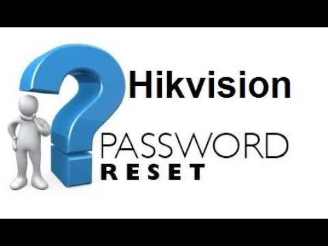 Repeat Reset password DVR hikvision | Password Recovery hikvision