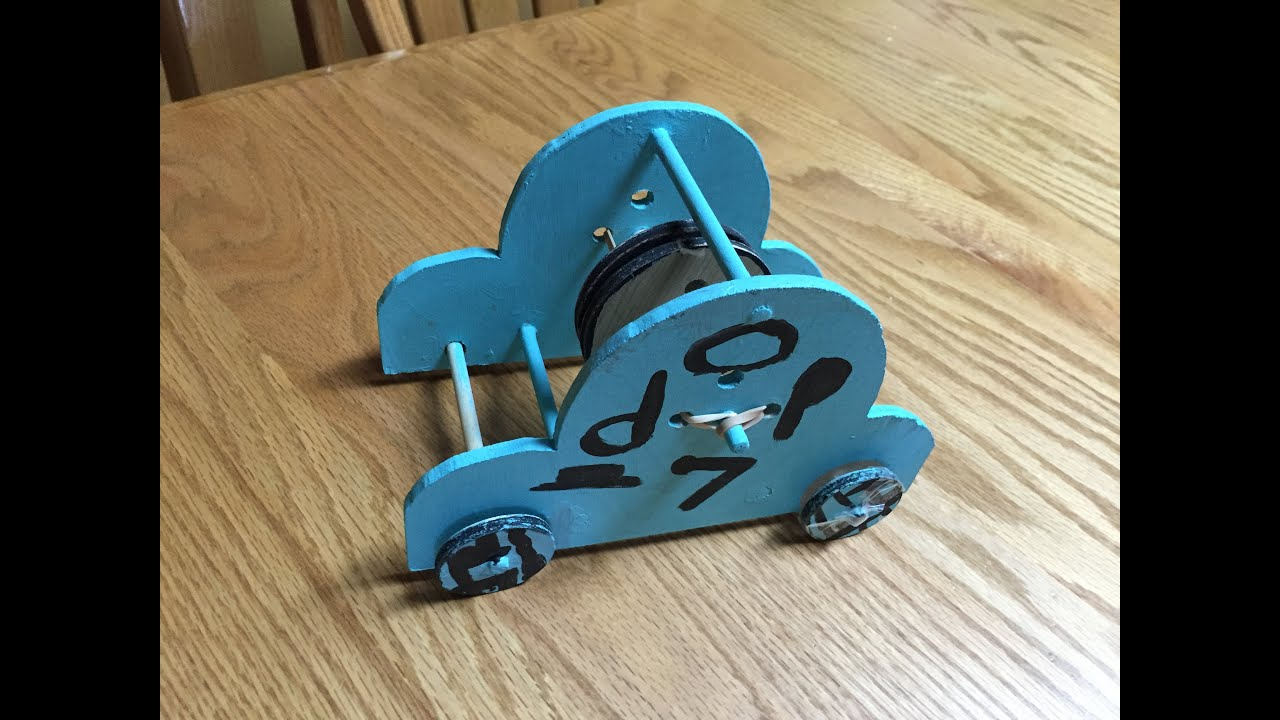 Newton Scooter Rubber Band Car Youtube