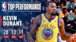 Kevin Durant's 10th Career Triple-Double (28/10/11) | January 25, 2018 thumbnail