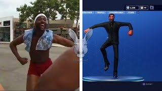 ALL FORTNITE NEW DANCES IN REAL LIFE