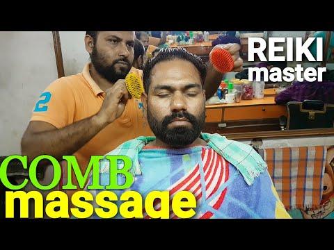 Reiki master Comb head massage and eye, shoulder, neck, ear massage ASMR videos.
