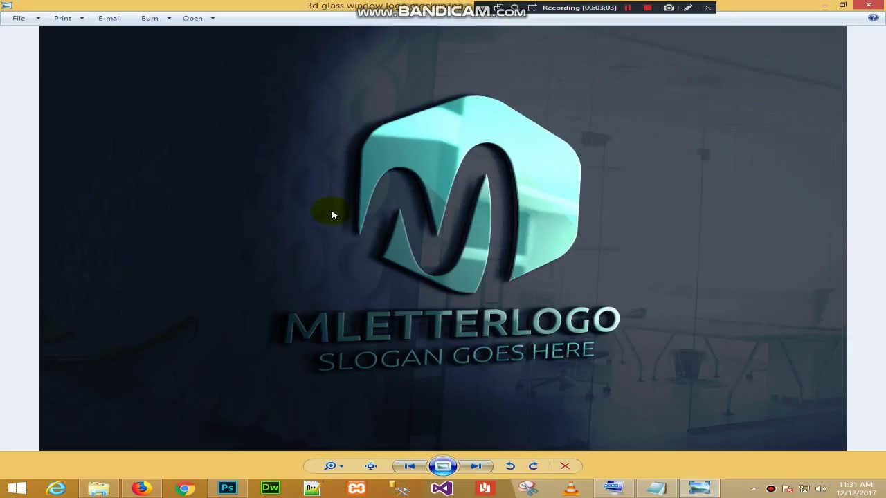 How To Download Edit Use Or Make 3d Glass Mockup For Logo In