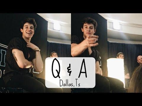 Shawn Mendes Q & A Illuminate World Tour Dallas