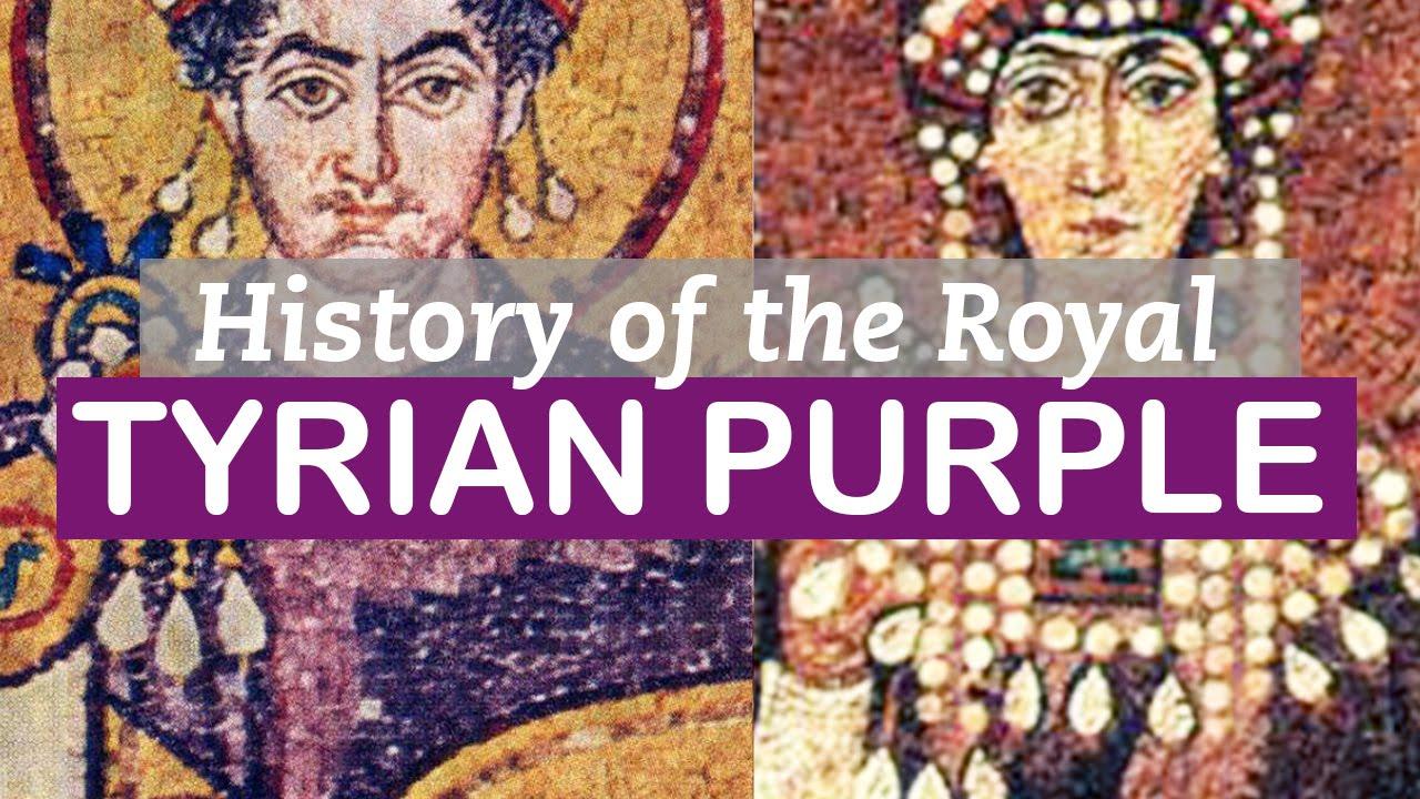 tyrian purple history of colors littlearttalks youtube