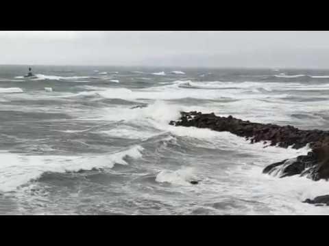 Fuertes vientos azotan A Mariña, en alerta amarilla por segundo día consecutivo
