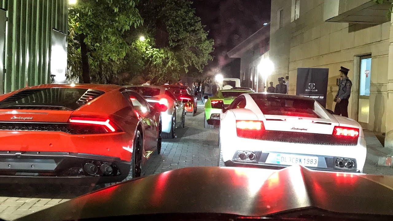 Midnight Supercar Run In INDIA (Bangalore) Boit Club — 13+ Cars