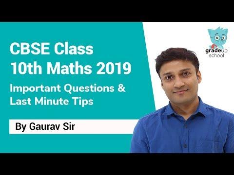 CBSE Class 10 maths paper last minute tips: CBSE Class 10