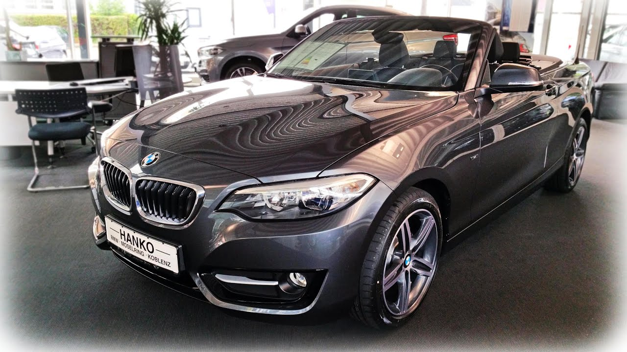 2015 bmw 218i cabrio sport line youtube. Black Bedroom Furniture Sets. Home Design Ideas