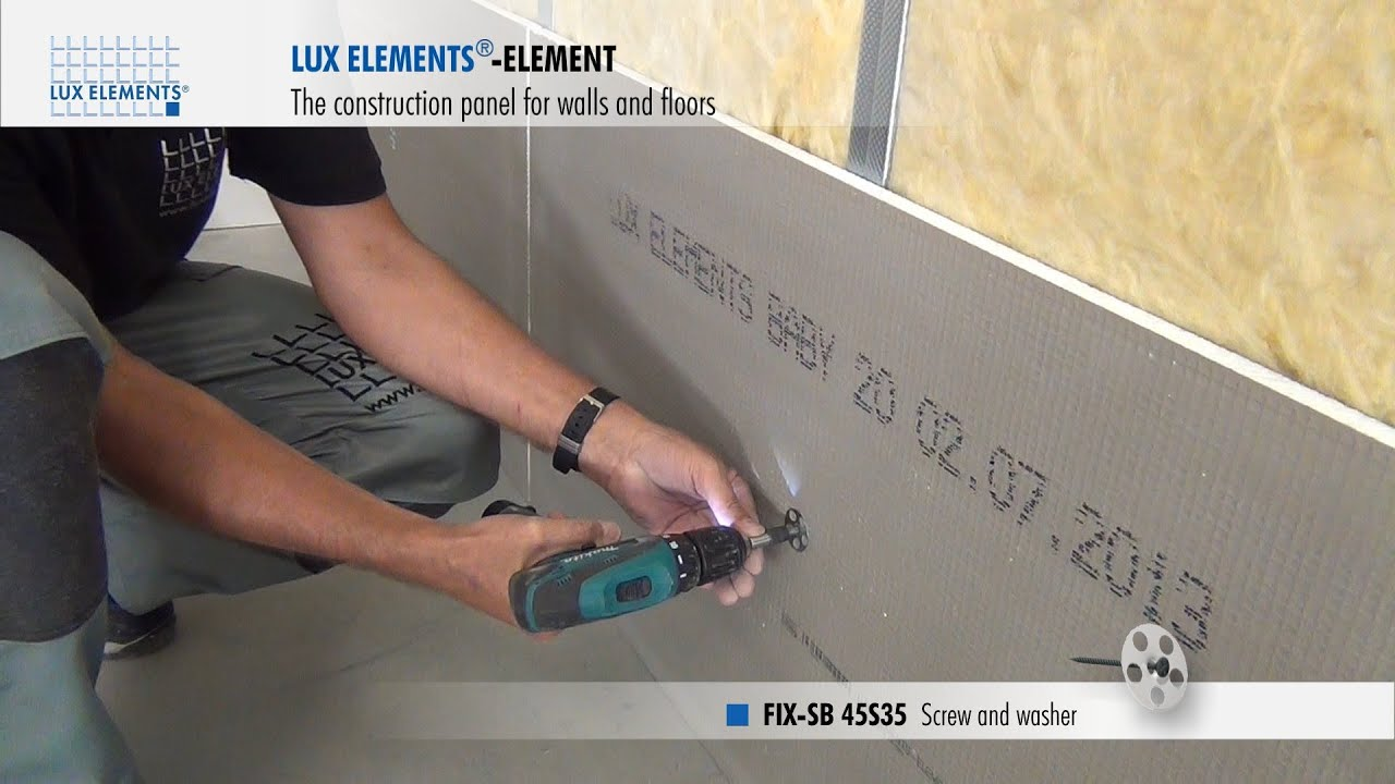 Castorama Isolant Phonique Lux Elements Installation: Construction Panel Element On