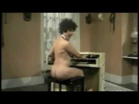 nude playing pipe organ