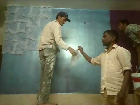 Textured wall painting (Dapple Metalic)