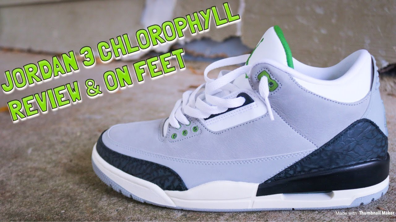 01b0f2802d0 AIR JORDAN 3 CHLOROPHYLL REVIEVIEW   GAS ON FEET!! - YouTube