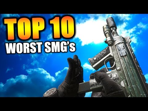 "Top 10 ""WORST SMG'S"" in COD HISTORY (Top Ten) Call of Duty 