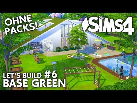 Die Sims 4 Haus Bauen Ohne Packs Base Green 6 Garten Pool Deutsch Youtube