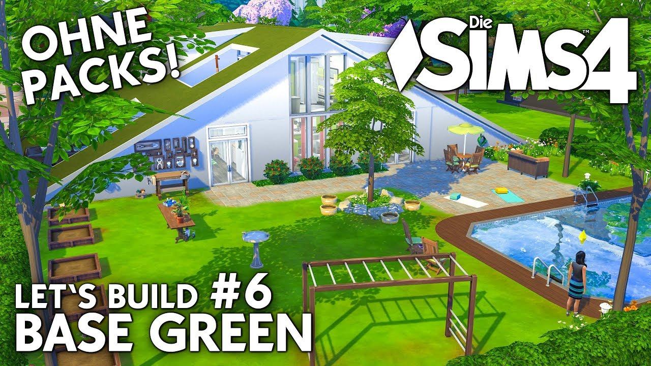 die sims 4 haus bauen ohne packs base green 6 garten pool deutsch youtube. Black Bedroom Furniture Sets. Home Design Ideas