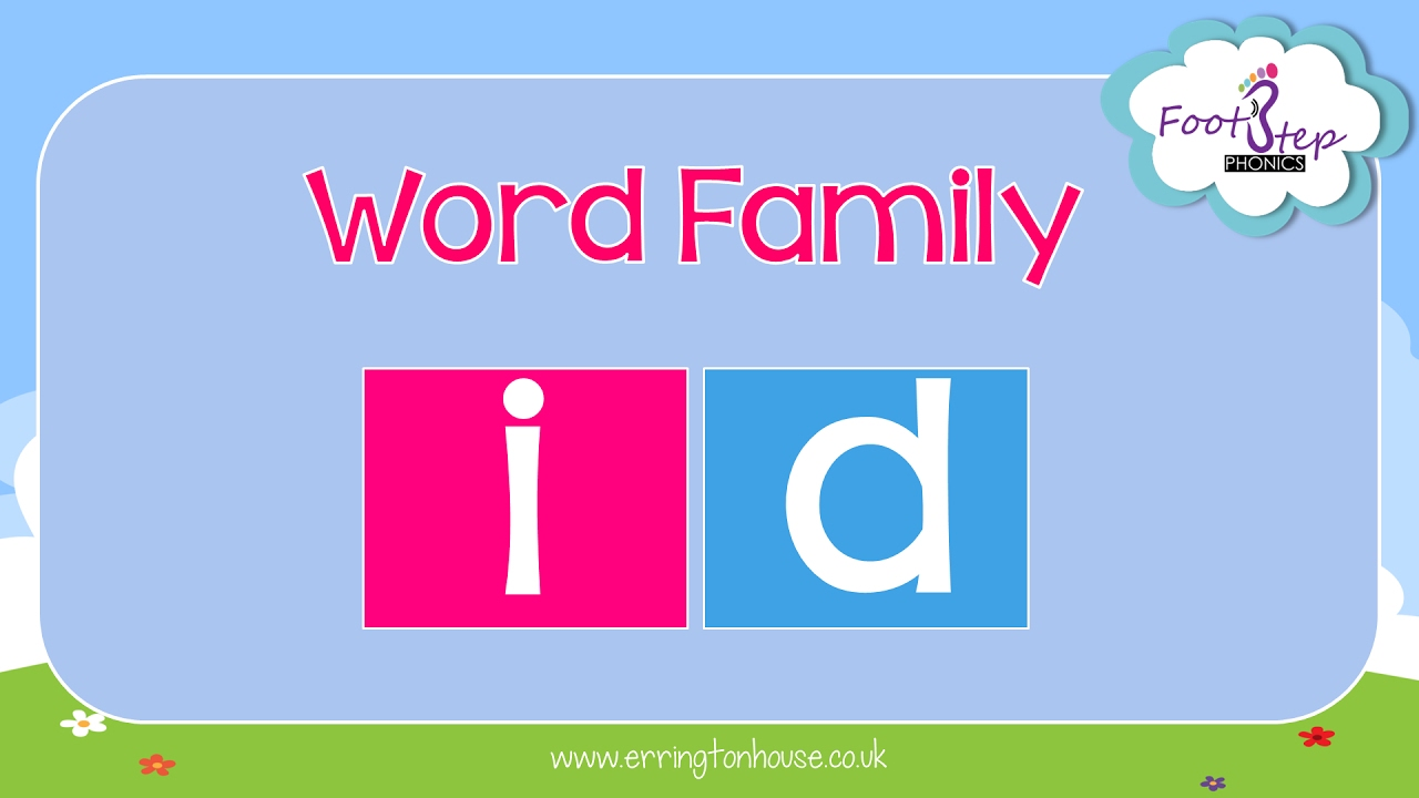 footstep phonics id word family youtube
