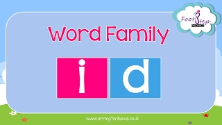 footstep phonics id word family