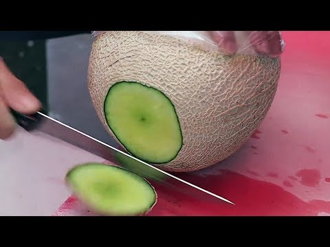 Fruits Cutting Skills / Korean street food / 남대문시장 과일집