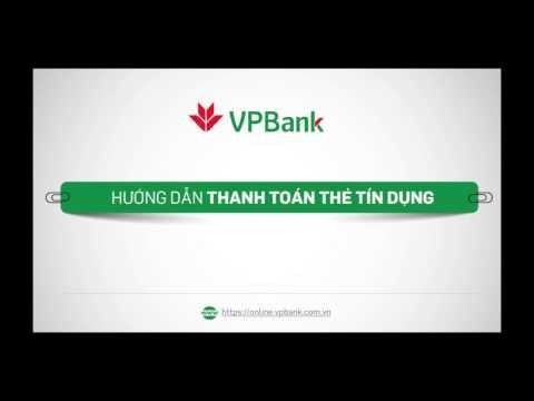 Hướng dẫn thanh toán thẻ tín dụng trên VPBank Online (web)