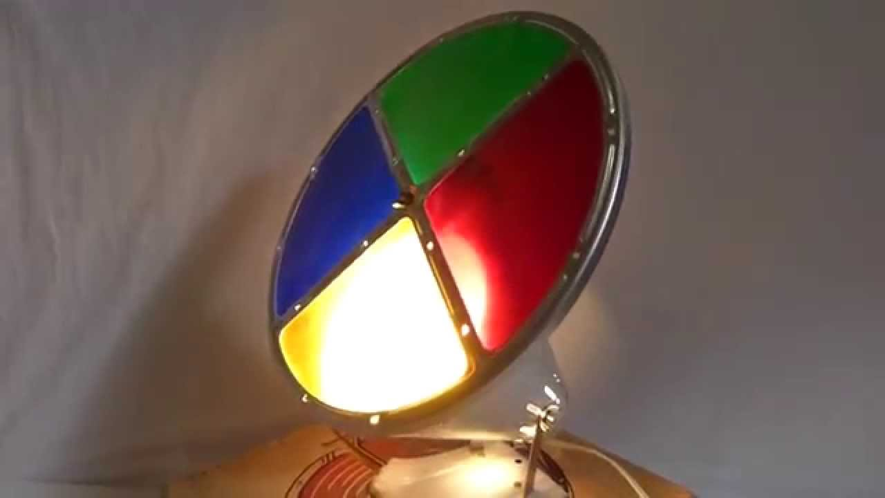 Vintage Compco Color Magic Motorized Christmas Tree Color