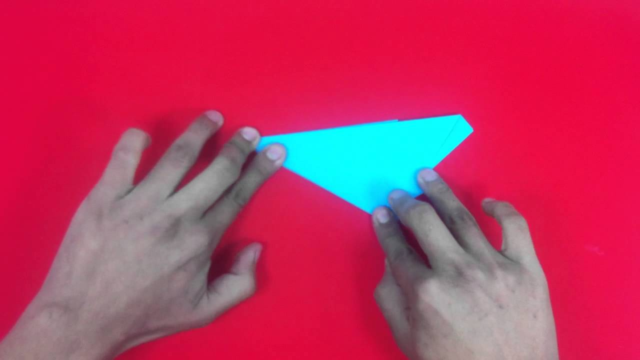 Estrella de papel con cinco puntas formas de origami - Origami de una estrella ...