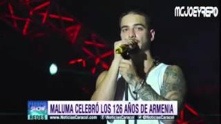 Maluma robo los suspiros de sus fan en Armenia  Colombia