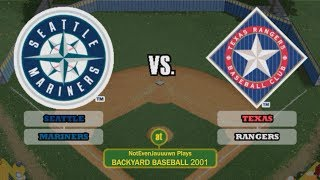 Backyard Baseball 2001 Game 1 (Season Opener)   Texas Rangers VS Seattle Mariners