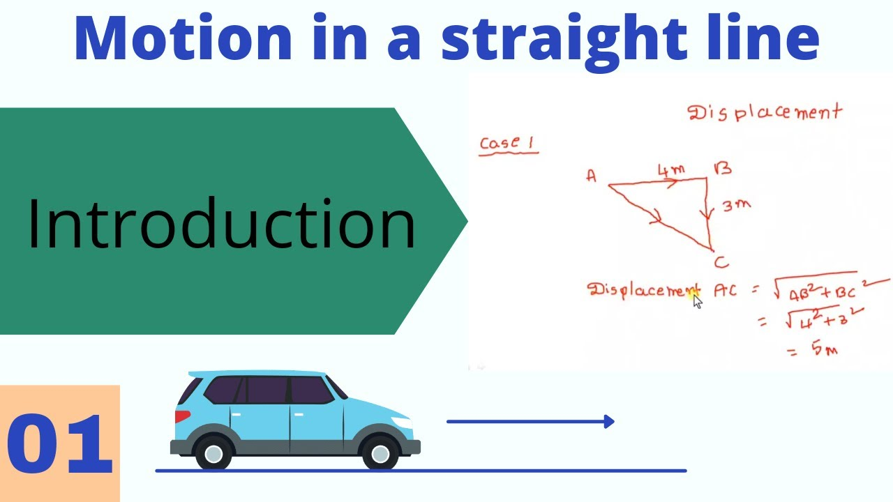 Motion in a straight line for class 11 students. Chapter 3. Part 1