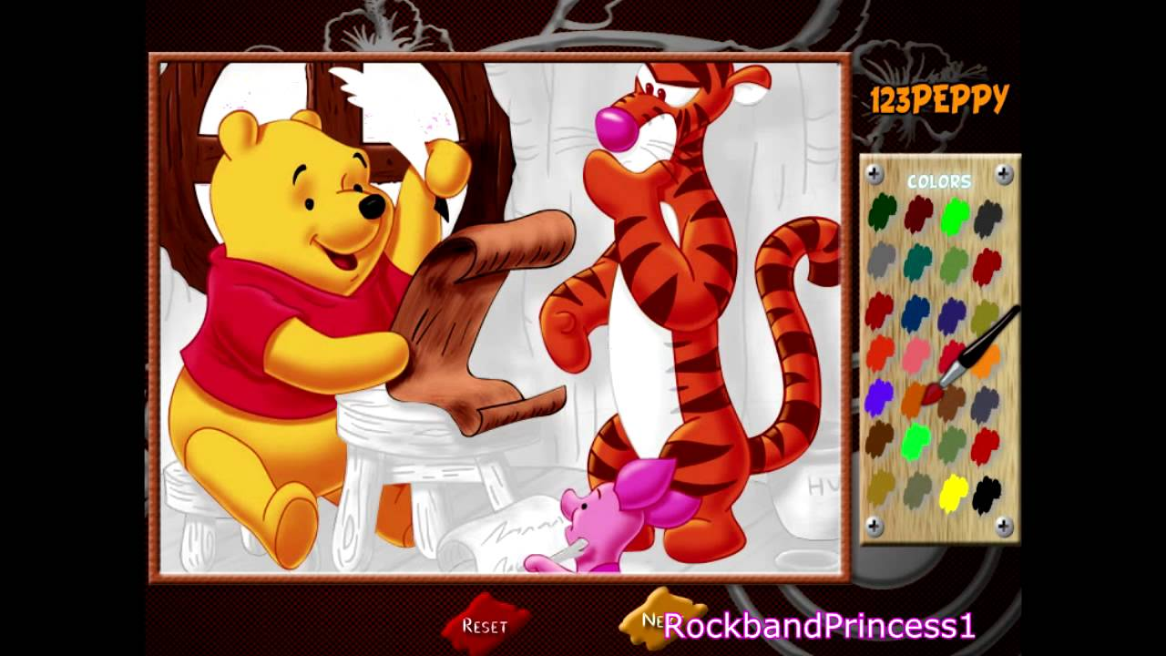 Winnie The Pooh Online Coloring Game