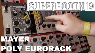 Superbooth 2019 - Mayer M800 Poly Eurorack and Control System