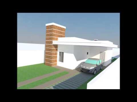 Maquete 3d de casa em estilo moderno youtube for Estilos de apartamentos