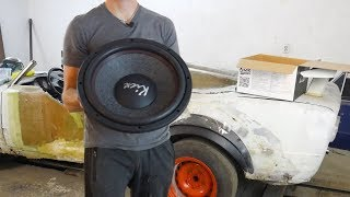 Короб для сабвуфера в кабриолет ВАЗ 2106. Kicx zc15