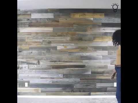 Weekend Walls Peel And Stick Wood Paneling.