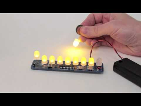 The LED Menorah Kit and flickering LEDs