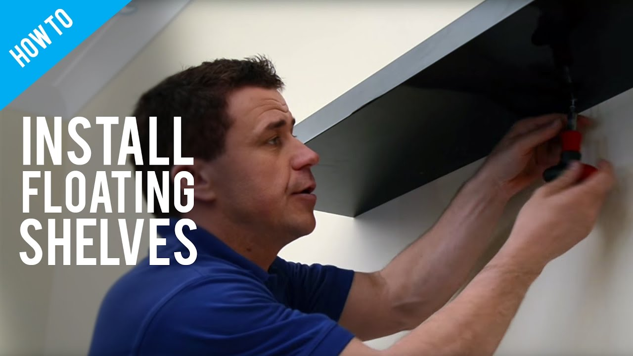 foto de How To Hang Floating Shelves On A Stud Wall - YouTube
