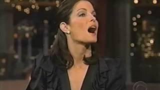 Stephanie Seymour on David Letterman Show (15 February 2001)