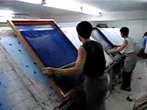 Silk Screen Printing YouTube