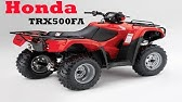 Видеообзор квадроцикла Honda TRX 500 FA и кофр Tamarack - YouTube